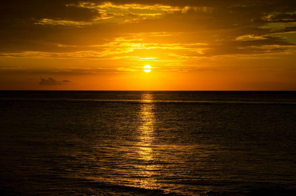 best sunset in Cozumel